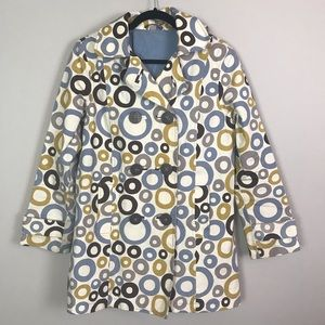 Boden | trench coat | circle patterns